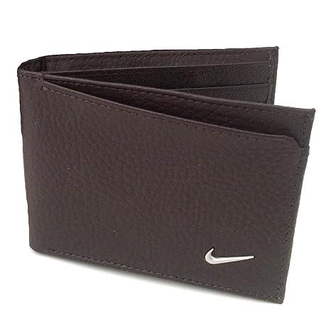 Nike Nueva Funda Logo Doble Pliegue Passcase Tipo Cartera – 68480, marrón (Negro)