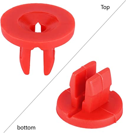 20pcs Bouchon Vis de Fixation Rivet Clips Plastique Cover Clips Vis Couvercle Bouclier Inf/érieur Garde pour Moteur