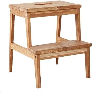 Taburete de peldaño de madera maciza, taburete, banco de zapatos, escalera de mano multifunción.: Amazon.es: Bricolaje y herramientas