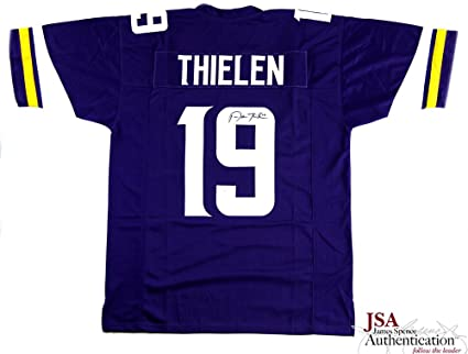 c030289a4e8 Adam Thielen Autographed Signed Minnesota Purple Custom Jersey at ...