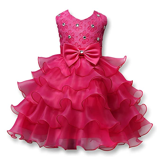 94e60dd751028 Amazon.com: YOTHG Summer Formal Kids Dress Girls Princess Wedding ...