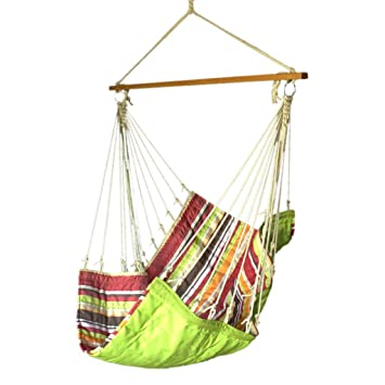 Slack Jack Quilted Fabric Swing (White, Brown, Red, Orange and Green)