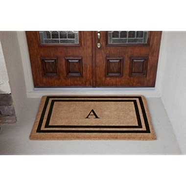 Luxury Coir Monogrammed - Double Picture Frame (Black) A 22 x 36