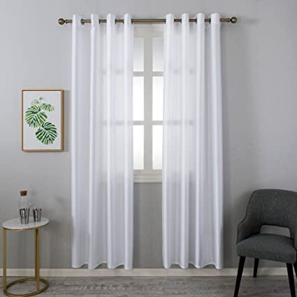Grace Duet Sheer Curtains Airy Gauzy Window Treatments Panels White Window  Curtains For Bedroom Curtain Sheer