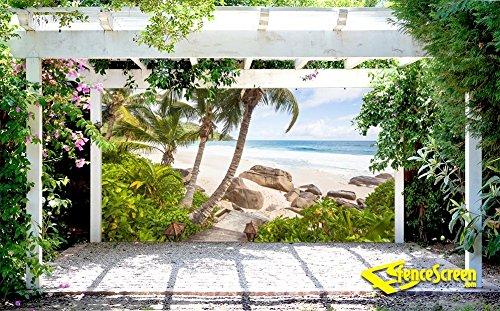 Stairs to Paradise Beach Patio & Gazebo Backdrop Screen 9 ...