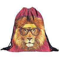 Sannysis Mochilas tipo casual, bolsos con cordón Impresión