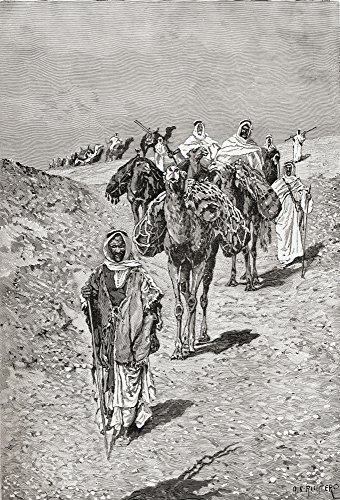 (Posterazzi A Caravan Africa in The Late 19Th Century. from The Modern Cyclopedia of Universal Information Published 1903. Poster Print, (12 x 18))