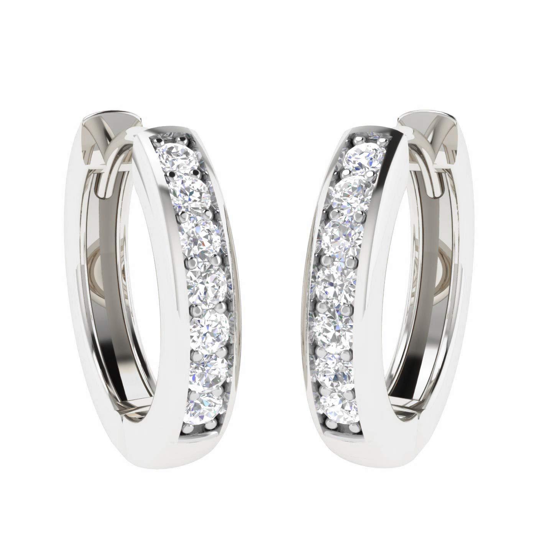 Luxury Diamond Earrings Natural Diamond Stud 10K White Gold 1 5 Ct Diamond  earring set II2-I3-HI Quality 100% Real Diamond Earrings (Diamond Jewelry  Gifts ... 9db3985f2a