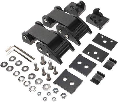 Stainless Steel Latch Locking Hood Catch Kit for 2007-2018 Jeep Wrangler JK JKU 2 Door and Unlimited 4 Door