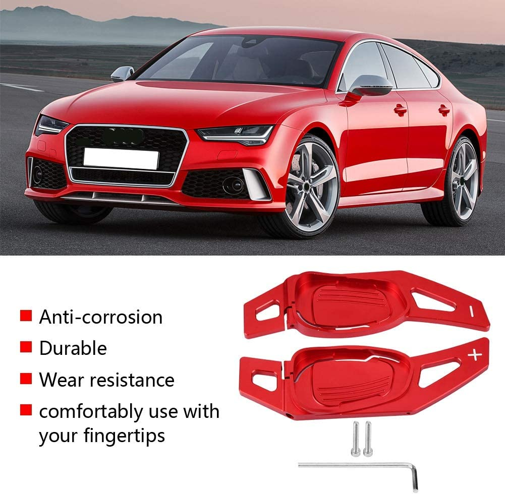 Red Qii lu Car Steering Wheel Shift Paddle Shifter for Audi A5 S5 S6 SQ5 RS3 RS6 RS7