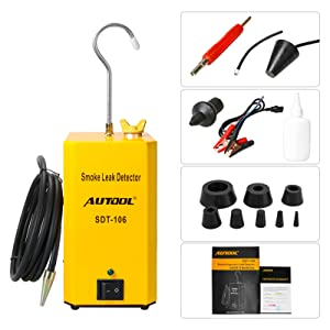 AUTOOL Automotive Smoke Leak Detector Evap Car Pipe Leakage Tester Fuel Leak Locator Universal for Motorcycle/Car/Truck