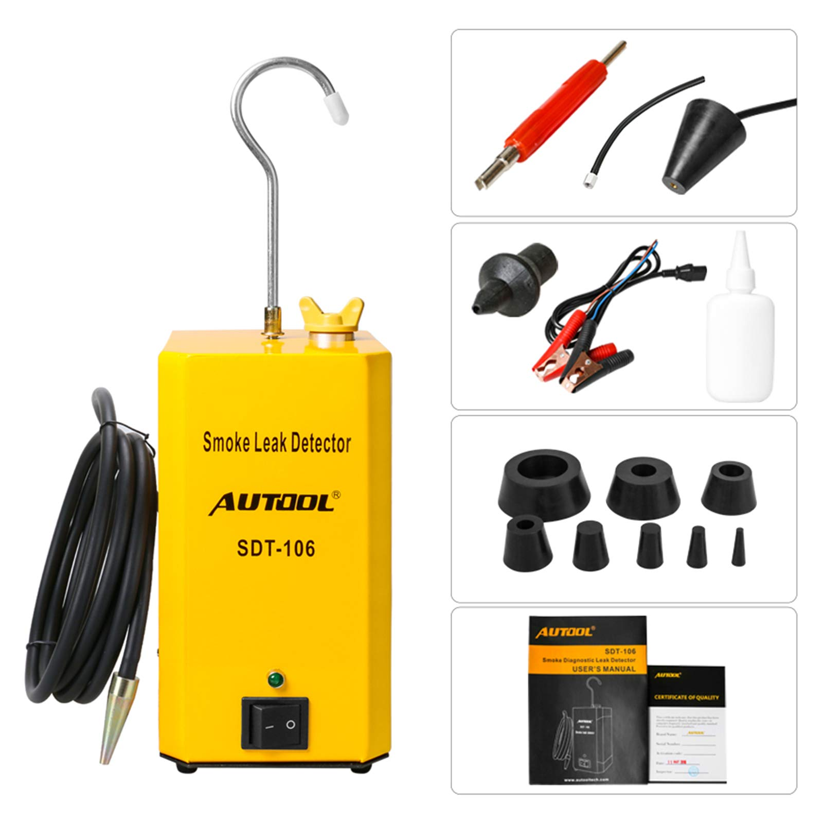 AUTOOL SDT-106 Automotive Fuel Leak Detectors Car Pipe Leakage Tester SDT106 Cars Leak Locator Automotive Diagnostic Leak Tools for 12V Vehicles