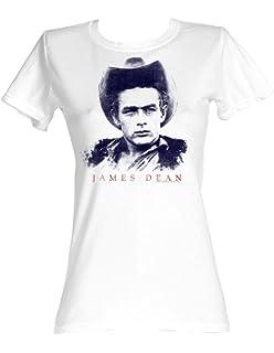 98ea4cdef870 James Dean - Gold Rebel Herren T-Shirt in Weiß  Amazon.de  Bekleidung
