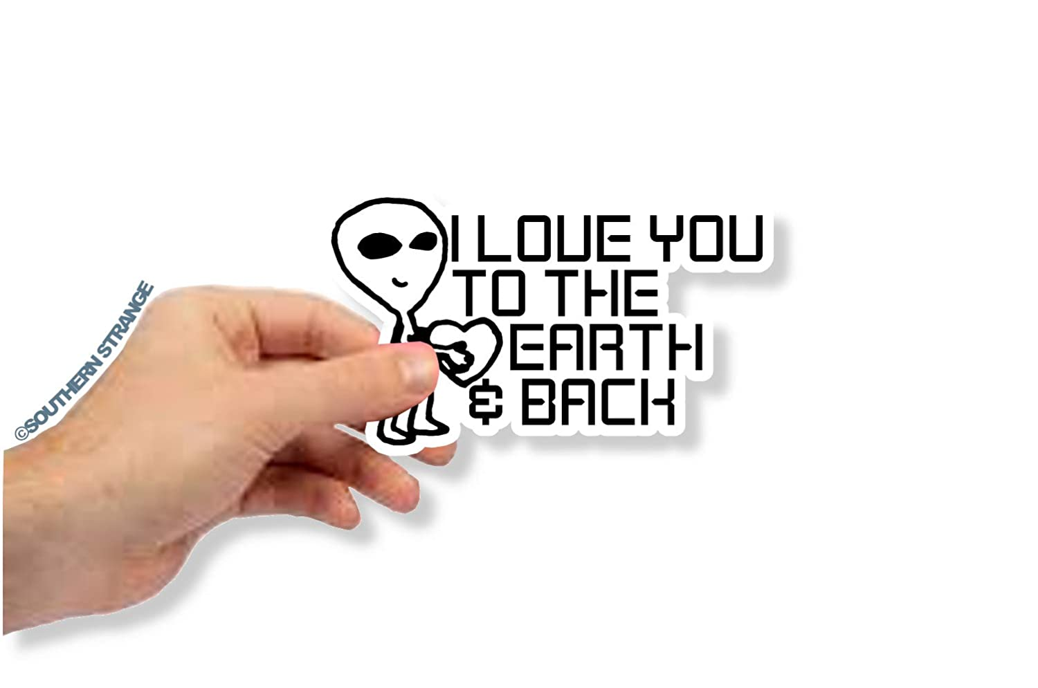 I Love You To The Earth /& Back Decal