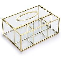 SUMNACON Caja de pañuelos Rectangular de Cristal Transparente
