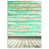 Vintage Wood Background - Photography Backdrop - Great for Studio, Booth, Party, Photo, Wedding, Business Use, 4.9 x 7.2 Feet