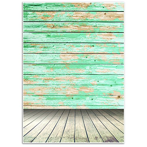 Vintage Wood Background - Photography Backdrop - Great Studio, Booth, Party, Photo, Wedding, Business Use, 4.9 x 7.2 Feet