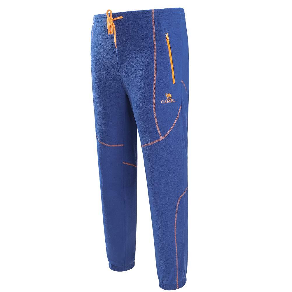 Camel Pantalones de Vell/ón para Exteriores para Hombres a Prueba de Viento Antiest/ático Grueso C/álido Pantalones Deportivos