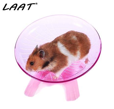 LAAT Hamster - Plato volador para mascotas con ruedas, juguetes ...