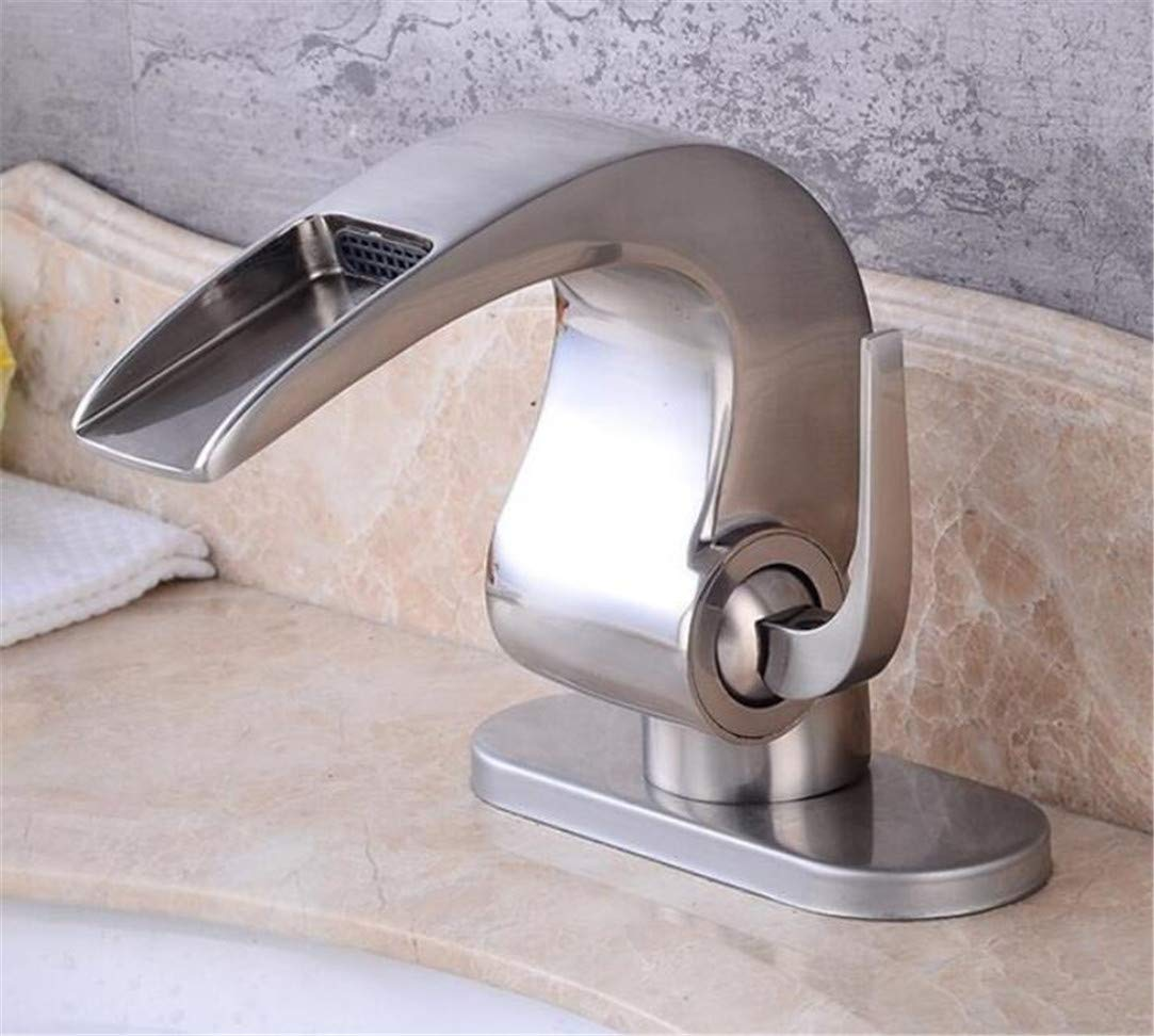 Faucet Washbasin Mixer Waterfall Faucet Crane Orb Bathroom Basin Faucet Bathroom Basin Mixer Tap with Hot and Cold Water