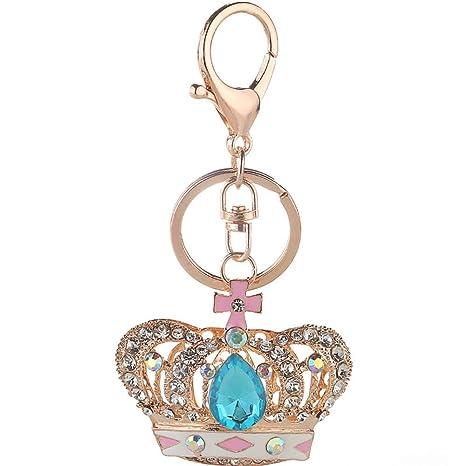 Llavero para mujer Corona Diamante Cristal Diamante de ...