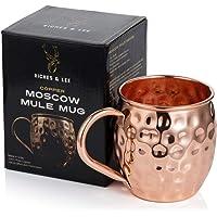Moscow Mule Kopparmugg x 1 - Handgjord i 100% Koppar - 53 cl Hamrad Barrel Style Mugg i Presentlåda - Köksmugg för Dryck…