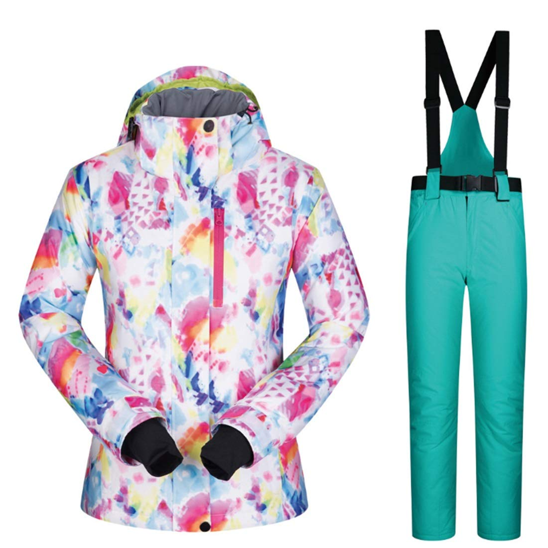 Jhcpca 女性のスキージャケットハイ防風防水技術スノージャケット  M