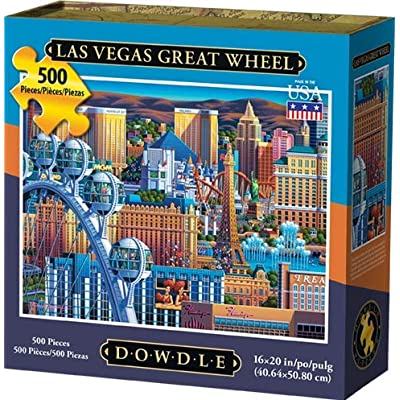 Dowdle Jigsaw Puzzle - Las Vegas Great Wheel - 500 Piece: Toys & Games