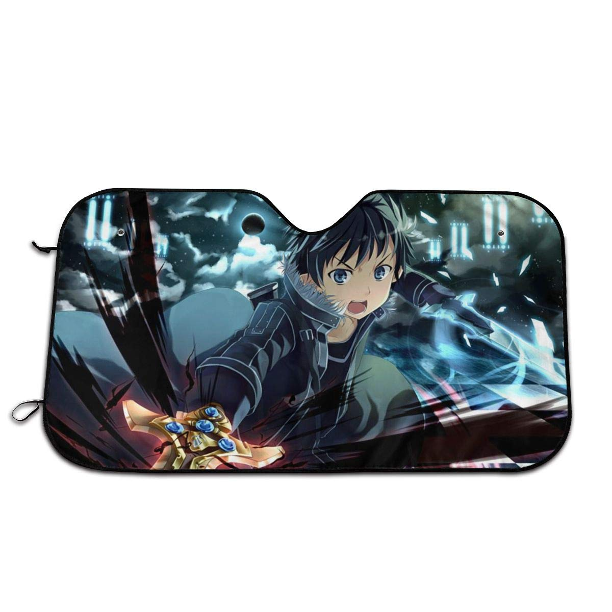 Hguftu5du Sword Art Online Universal Windshield Sunshade 27.5x51 Inch Car Sun Visor Seat Sunscreen by Hguftu5du