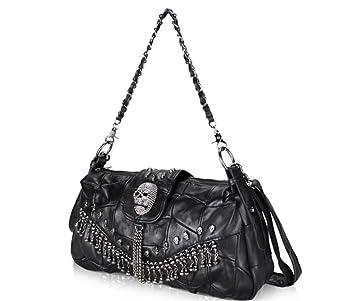 669ff8efa67f3 BAO Lady Messenger Bag Stilvolle Leder Einzelne Umhängetasche Nähen Kette  Handtasche
