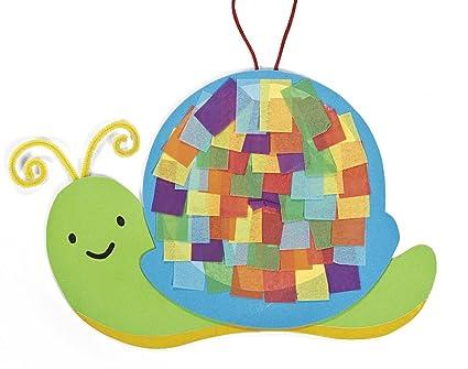 Amazon com: 12 Colourful Snail Tissue Paper Craft Kits - Kids Mess