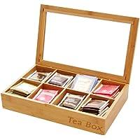 Tea Box Storage Organiser, Made of Bamboo