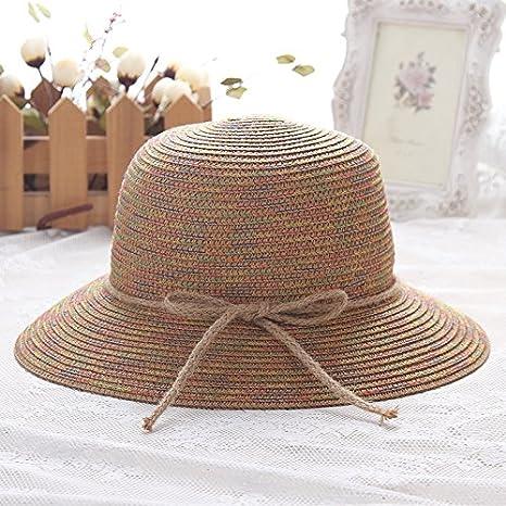 ASIBG Home Estate Signora Cappello di Colore Pescatore Cappello di Canapa  Protezione del Bacino di Prua 0b0af239c1bf