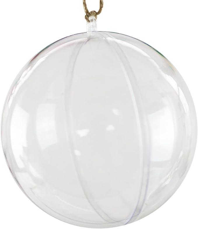 Super Z Outlet Clear Plastic Acrylic Bath Bomb Mold Shells Molding Balls Kit 120mm, 12 Pack