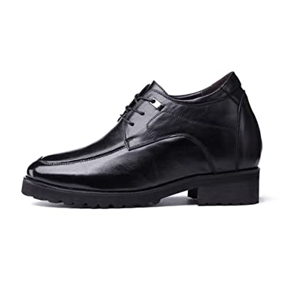 Extra Height Elevator Shoes Height 4.7 Inch Invisibly For Men Business formal genuine leather Derby Shoes