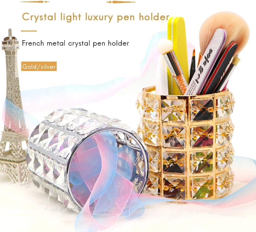 Desktop-Schminktisch-Aufbewahrungseimer aus Crystal Pen-Halter-Make-up-Pinsel