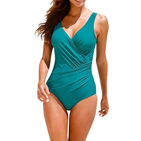 YUNLI Mujer Monokini con Uno/Dos Tirantes Traje de Baño de ...