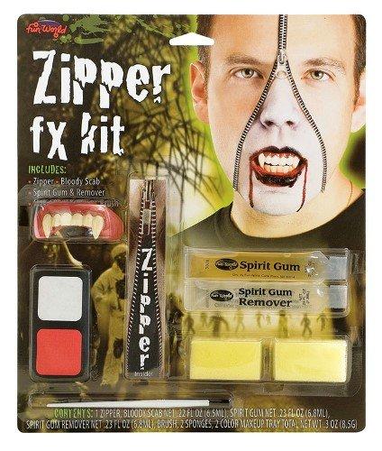 Zipper Vampire Halloween Special Effects Make Up Fancy Dress (Special Effects For Halloween Uk)