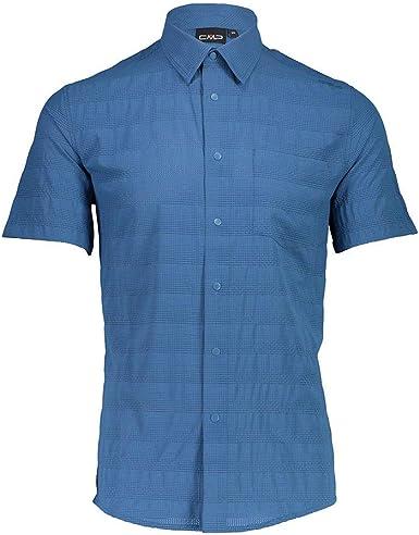 CMP Camicia Slim Fit Tessuto Stretch Camisa Hombre : Amazon ...