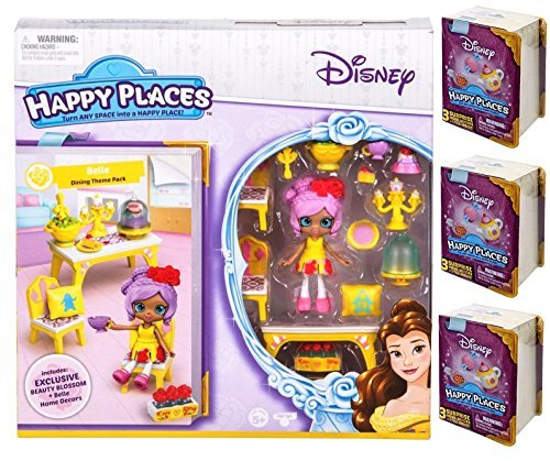 Happy Places Disney Belle Dining Theme Pack PLUS 3 Surprise Packs!