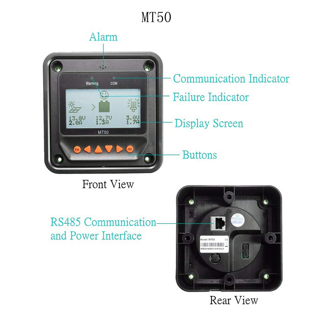 Tracer 3210AN 30A Contr/ôleur de charge solaire EPever Tracer AN 30A Contr/ôleur de charge solaire 100V PV R/égulateur solaire /à la masse avec mise /à la terre Efficacit/é de suivi jusqu/à 98/%