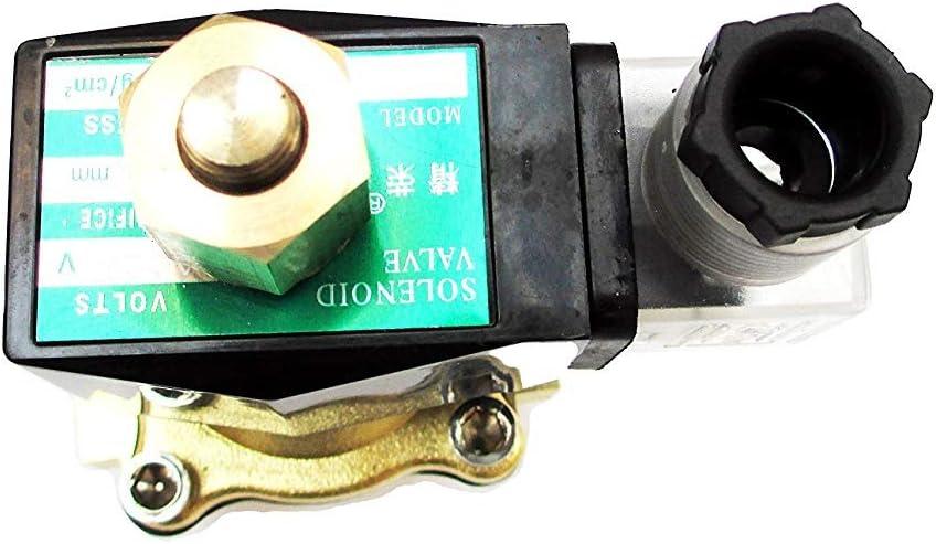 Aquiver Auto Parts New 3//4 inch Normally Open 24V AC VAC Brass Solenoid Valve NPT