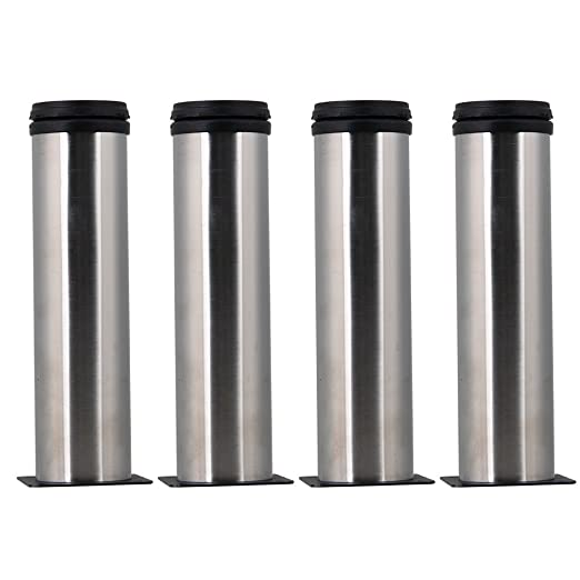 4PCS 200mm Height Adjustable Stainless Steel Metal Furniture Legs Feet  Replacement Kitchen Cabinet Couch Legs