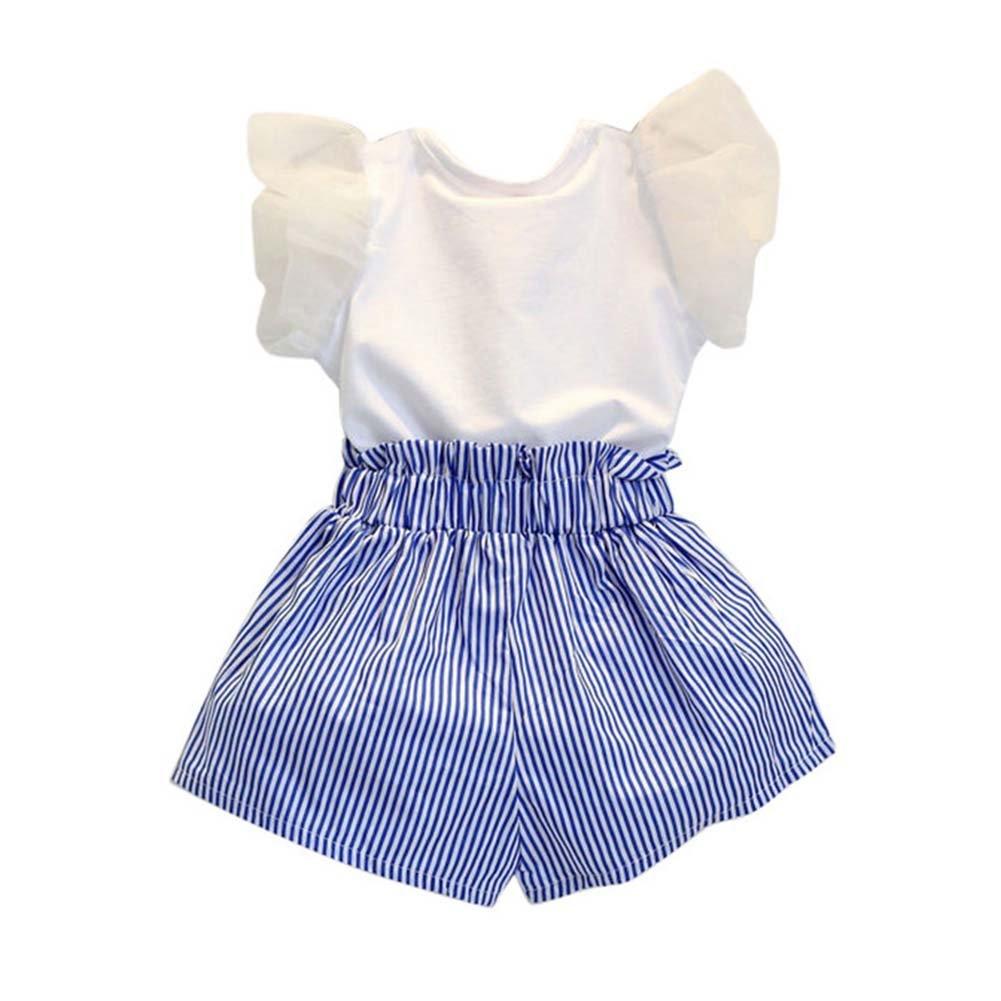 Moresave Conjunto de ropa corta para niñas Baby Top de manga corta ...