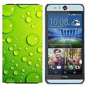 TECHCASE---Cubierta de la caja de protección para la piel dura ** HTC Desire Eye ( M910x ) ** --Hoja Gota de Agua Verde 3