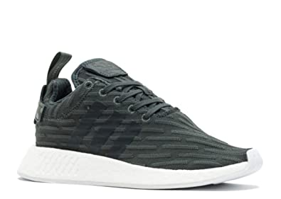 0cfeab1a19717 Image Unavailable. Image not available for. Color  adidas BA7261 Women  NMD R2 W White Green