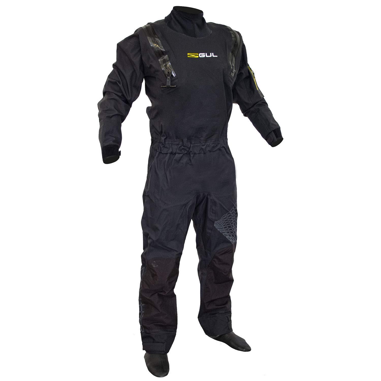 GUL Code Zero Stretch U-Zip Drysuit Dry Suit in Black - Breathable and Waterproof - Includes Underfleece by GUL