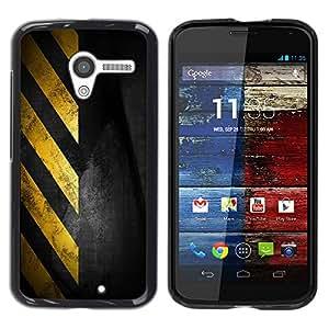 Stuss Case / Funda Carcasa protectora - Traffic Sign Yellow Tape Black Stripes - Motorola Moto X 1 1st GEN I XT1058 XT1053 XT1052 XT1056 XT1060 XT1055