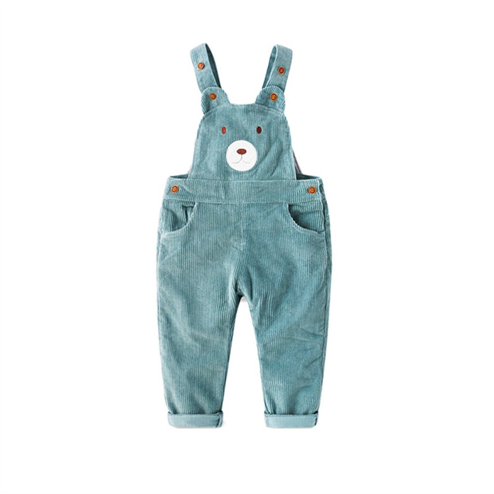 SPRMAG Boys' Cartoon Animal Jumpsuit Bib Overalls Suspenders Pants Made in China