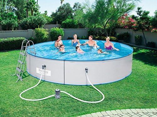 animalmarketonline Jardín Herramientas piscinas y accessorri Bestway Hydrium Pool Juego 460 x 90 cabezal de filtro de cartucho redonda para piscina a pared de acero: Amazon.es: Jardín